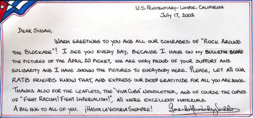 Letters from the Cuban 5 to RATB