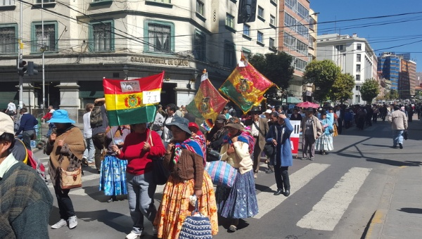 pro morales march in bolivia