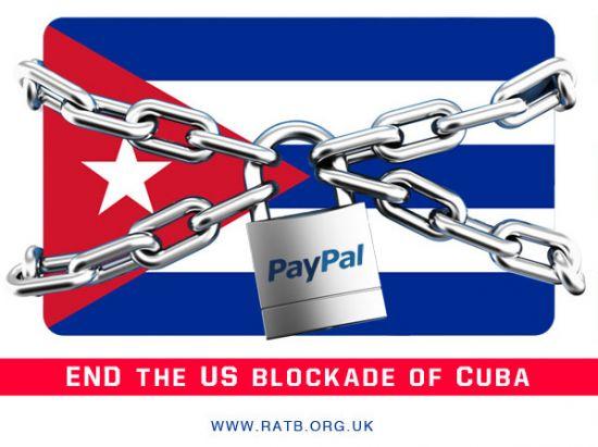 PayPal - US-Blockade of Cuba